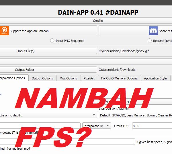menambah fps dain app